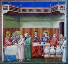Giotto - Le nozze di Cana. Padova, Cappella degli Scrovegni   Flickr: partage de photos!