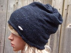 OXFORD BLUE SLOUCHY Women Ladies Beanie Hat Autumn Winter by PepiZ