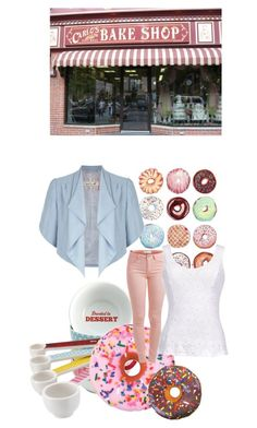 donut ya? by elisinhahalliwell on Polyvore featuring moda, Thalia Sodi, Damsel in a Dress, Pieces, Iscream and Cake Boss