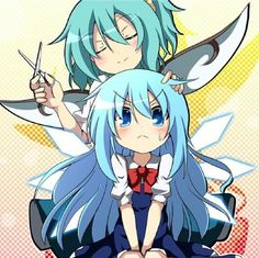 cirno is cute with that long hair Solo Pics, Anime Style, Chibi, Otaku, Fanart, Manga, Long Hair Styles, Game, Cool Stuff