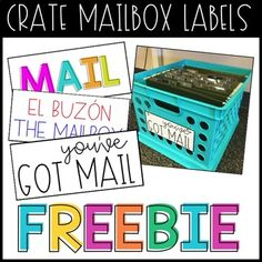 Crate Mailbox Labels by Lone Star Classroom | Teachers Pay Teachers