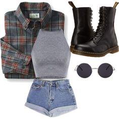 Trendy fashion grunge punk dr martens 27 ideas - my outfits. Teenage Outfits, Edgy Outfits, Teen Fashion Outfits, Retro Outfits, Cute Casual Outfits, Vintage Outfits, Summer Outfits, Fashion Clothes, Hipster School Outfits