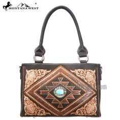 Discover our new Montana West collection on www.handbagloverUSA.com montana west MW106-8358 Western Aztec Collection Handbag-Coffee - Western Handbag purse