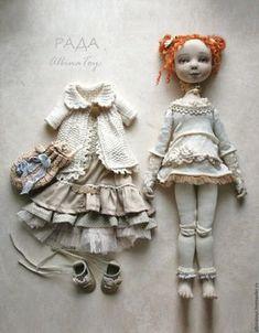 Купить Текстильная коллекционная кукла Рада. Бохо стиль. - кукла, кукла ручной работы