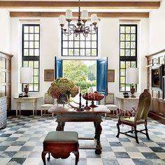 Living Room : A Louisiana Home Channels Cape Dutch Style : Architectural Digest