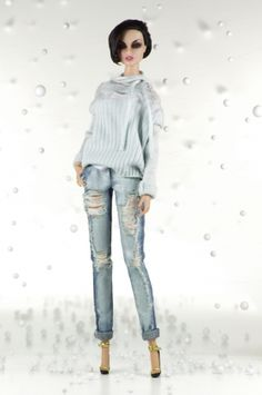 7. Sweater, jeans, top, shoes (size FR2)