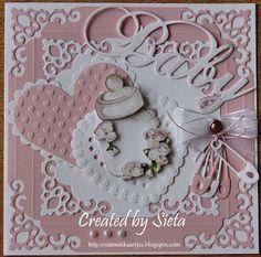 Creamutskaartjes: Geboortekaartje