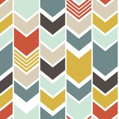 customchevron fabric by mrshervi on Spoonflower - custom fabric -- I think this is the winner!!! Might be too orangey but it's not teh dominant color so maybe its all good??