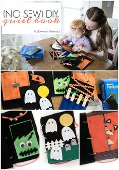 diy felt book | diy quiet book | diy halloween craft | ghost halloween craft | craft for babies | halloween craft for kids | toddler quiet book | no sew quiet book #CatchMoreData #Ghostbusters #ad @walmart