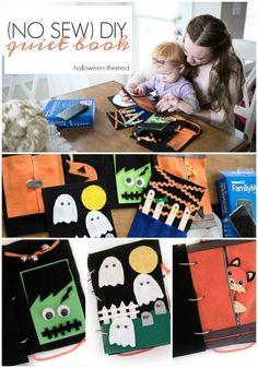 diy felt book | diy quiet book | diy halloween craft | ghost halloween craft | craft for babies | halloween craft for kids | toddler quiet book | no sew quiet book #CatchMoreData #Ghostbusters #ad @walmart