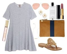 """""""I made a blog !!!"""" by poshandy ❤ liked on Polyvore featuring mode, Olive + Oak, Wish by Amanda Rose, Clare V., Jack Rogers, Chanel, Agonist, Ray-Ban, Kate Spade et Michael Kors"""