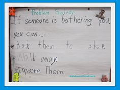 """photo of: """"Problem Solver"""" Suggestions for when someone is Bothering You Bulletin Board"""