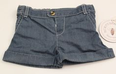 Burt's Bees Baby Girls Jeans Shorts~Blue/Chambray ~ 3-6 Months ~ Organic Cotton #Shorts #Everyday