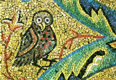 The Owl, Apse Mosaic, San Clemente, Rome (we went to the Basilica di San Clemente in 2007, and again in 2014--the apse mosaic colorful, sparkling, full of animals)