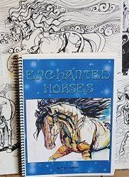 Enchanted Horses - Adult Horse Coloring Book