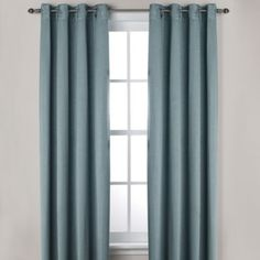 Ashton Grommet Window Curtain Panels - BedBathandBeyond.com Bought this for the guest bedroom - in the Smoke color