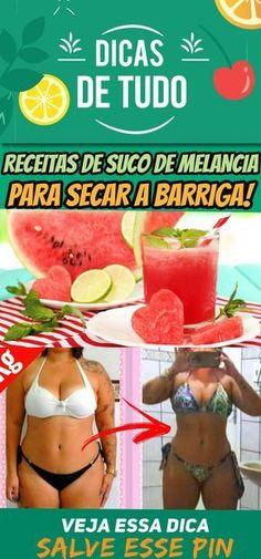 13 Receitas de Suco de Melancia Para Secar a Barriga! #emagrecer #suco #barriga #rápido
