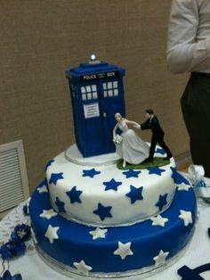 Tardis Wedding Cake Topper | wedding # geek wedding