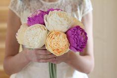 paper flowers paper flower ivory paper flowers by FlowerDecoration