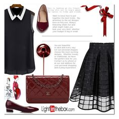 """Dark red"" by nerma10 ❤ liked on Polyvore featuring Chanel"