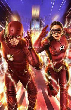 The Flash VS Jesse Quick~ Fan art commission job~ Flash Barry Allen, Flash Comics, Arte Dc Comics, Foto Flash, Arrow Flash, Flash Characters, Flash Drawing, Marvel Photo, Flash Funny