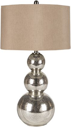I love the simplistic yet contemporary design of this living room lamp! It's the perfect table lamp that will make a statement, but not overpower other pieces.