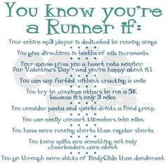 You know you're a runner if...