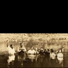 First Jesus' name baptisms in Tulsa 1921! Elder Arthur Duck baptized at the old Hickory Mines. Located today between Harvard & Yale Ave and 21st Street.