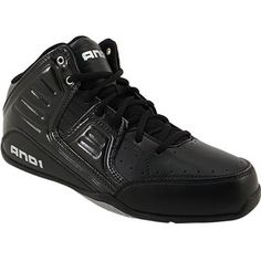 60d3a9acb And 1 Rocket 4 Mid Basketball Shoes - Mens Black Silver Bow Shoes
