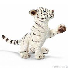 Schleich Tiger cub white, playing