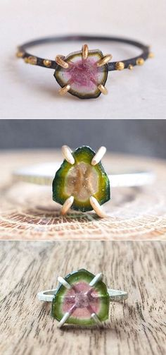 The Carrotbox - glass rings, plastic rings, lucite rings, stone rings and other non-metal chunky cocktail rings Raw Gemstone Jewelry, Raw Crystal Jewelry, Tourmaline Jewelry, Copper Jewelry, Modern Jewelry, Jewelry Rings, Jewelery, Jewellery Box, Jewelry Shop
