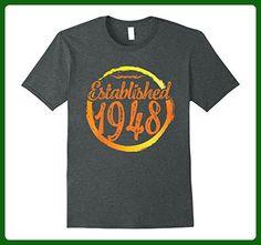 Mens Established Legends Born In 1948 Birthday Gift 69 Years Old Medium Dark Heather - Birthday shirts (*Amazon Partner-Link)