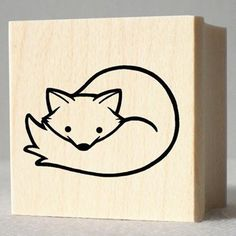 Handmade Gifts | Independent Design | Vintage Goods Rubber Stamp - Arctic Fox - i love animals