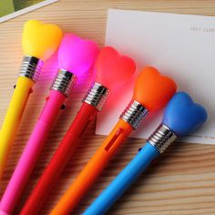 light ballpoint pen cute writing pens for kids/ korean school supplies & office accessories cute stationery material