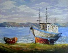 pintura em tela marinha passo a passo - Pesquisa Google