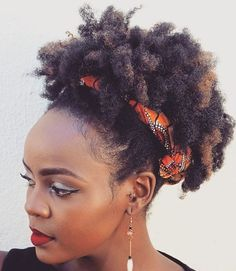 Short+Afro+With+Caramel+Highlights