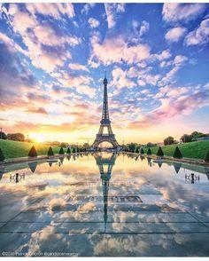 "tourtheplanet: ""Eiffel Tower Paris France #TourThePlanet Photography by @candidcameraman"""