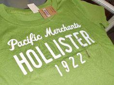 Hollister Playera Manga Corta Verde Pacific Me Talla Mediana -   290.00 039e51d837e