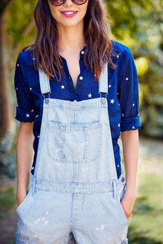 Overalls are officially back in style and we couldn't be happier. These Old Navy Railroad-Stripe Shortalls are exactly what you need to stay on trend this summer. The denim is soft and light, and with five different pockets you can bring your essentials and give your bag the day off. Come grab a pair before it's too late.