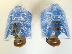 Le chouchou de ma boutique https://www.etsy.com/fr/listing/256474947/pair-of-french-wall-lights-blue-glass