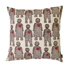 Scatters<br/> Lovedoll <br/>Apple Red Heart & Prune on Linen Printed Cushions, Scatter Cushions, Throw Pillows, Cushion Cover Designs, Fresh Outfits, Red Apple, Buy Shoes, Best Brand, Fashion Online