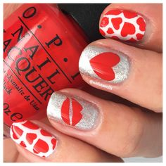 Valentines Nail Art Stencils & Stickers - Love Hearts, Kisses Designs by NailStencils on Etsy https://www.etsy.com/uk/listing/495498278/valentines-nail-art-stencils-stickers