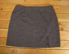Women Express Black Gray White Plaid Short Skirt 9 10 Lightweight | eBay