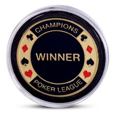 """24K Yellow Gold Plated Poker Chip """"Champions Poker League WINNER"""" Perfect gift to a poker fan, or treat yourself to a Chip that shows off your true skills. A Plastic case will be included with every Poker chip plus free USPS First Class Mail Shipping included. Prove who truly is the best at Poker."""