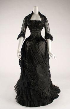 Evening dress ca. 1881-1884 via The Costume Institute of the Metropolitan Museum of Art