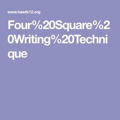 Four%20Square%20Writing%20Technique Four Square Writing, School, Language Arts, Language
