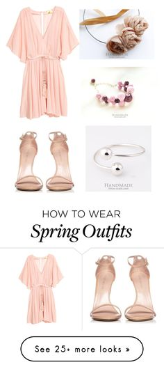 """""""Tender spring outfit for a romantic date"""" by three-snails on Polyvore featuring Stuart Weitzman"""