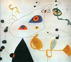 Woman and Bird in the Night by Joan Miro
