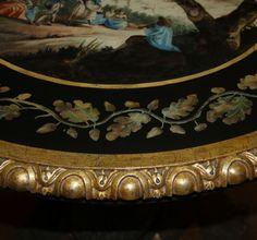 A 19th Century Italian Polychrome and Parcel Giltwood Scagliola Table No. 4033 - C. Mariani Antiques, Restoration & Custom, San Francisco, CA.