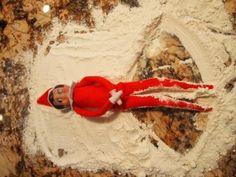 Elf Making Snow Angels